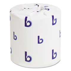 Two-Ply Toilet Tissue, Septic Safe, White, 4.5 x 3.75, 500 Sheets/Roll, 96 Rolls/Carton