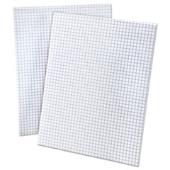 Quadrille Pads, 4 sq/in Quadrille Rule, 8.5 x 11, White, 50 Sheets
