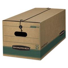 "STOR/FILE Medium-Duty Strength Storage Boxes, Legal Files, 15.25"" x 24.13"" x 10.75"", Kraft/Green, 12/Carton"