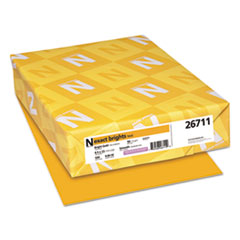 Exact Brights Paper, 20lb, 8.5 x 11, Bright Gold, 500/Ream