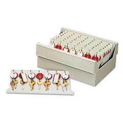 In-Drawer Key Control, 56-Key, Molded Plastic, Putty, 12 x 9 7/8 x 4 3/4