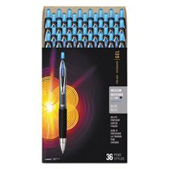 Signo 207 Retractable Gel Pen Value Pack, 0.7mm, Blue Ink, Black Barrel, 36/BX