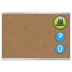 Prestige 2 Magnetic Cork Bulletin Board, 72 x 48, Aluminum Frame