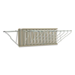 Sheet File Pivot Wall Rack, 12 Hanging Clamps, 24w x 14.75d x 9.75h, Sand