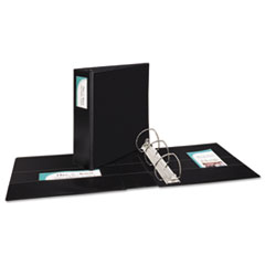 """Durable Non-View Binder with DuraHinge and EZD Rings, 3 Rings, 4"""" Capacity, 11 x 8.5, Black"""