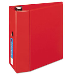 "Heavy-Duty Non-View Binder with DuraHinge and Locking One Touch EZD Rings, 3 Rings, 5"" Capacity, 11 x 8.5, Red"