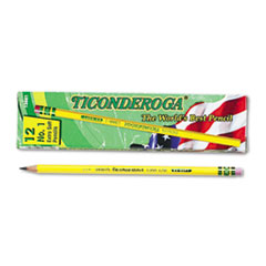 Pencils, B (#1), Black Lead, Yellow Barrel, Dozen