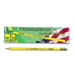 Pencils, F (#2.5), Black Lead, Yellow Barrel, Dozen