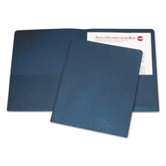 7510005842489 SKILCRAFT Double Pocket Portfolio, Letter Size, Dark Blue, 25/Box