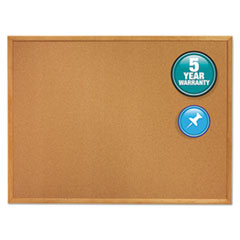 Classic Series Cork Bulletin Board, 96 x 48, Oak Finish Frame
