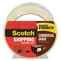 """3750 Commercial Grade Packaging Tape, 3"""" Core, 1.88"""" x 54.6 yds, Clear"""