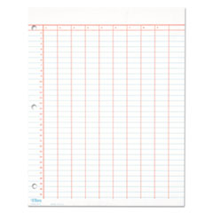 Data Pad w/Numbered Column Headings, 11 x 8.5, White, 50 Sheets