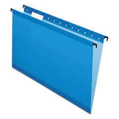 SureHook Hanging Folders, Legal Size, 1/5-Cut Tab, Blue, 20/Box
