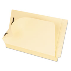 Manila Laminated End Tab Folders with Two Fasteners, Straight Tab, Legal Size, 11 pt. Manila, 50/Box