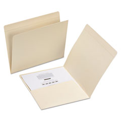 File Folders, Straight Top Tab, Letter, Manila, 50/Box