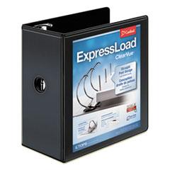 """ExpressLoad ClearVue Locking D-Ring Binder, 5"""" Cap, 11 x 8 1/2, Black"""