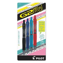 G2 Mini Retractable Gel Pen, Fine 0.7mm, Assorted Ink/Barrel, 4/Pack
