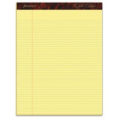Gold Fibre Writing Pads, Narrow Rule, 8.5 x 11.75, Canary, 50 Sheets, Dozen