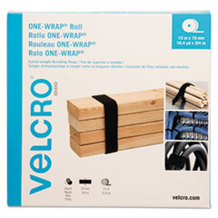 """ONE-WRAP Cut-To-Fit Standard-Ties, 0.75"""" x 49 ft, Black"""