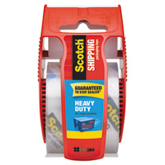 """3850 Heavy-Duty Packaging Tape with Dispenser, 1.5"""" Core, 1.88"""" x 66.66 ft, Clear"""