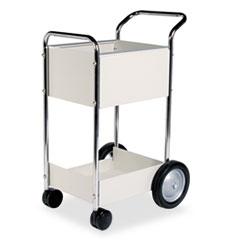 Steel Mail Cart, 75-Folder Capacity, 20w x 25.5d x 39h, Dove Gray