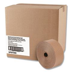 """Reinforced Kraft Sealing Tape, 3"""" x 375ft, Brown, 8/Carton"""