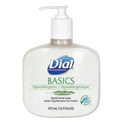 Basics Liquid Hand Soap, Fresh Floral, 16 oz Pump, 12/Carton