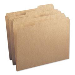 Heavyweight Kraft File Folders, 1/3-Cut Tabs, Letter Size, 17 pt. Kraft, 50/Box