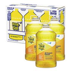 All Purpose Cleaner, Lemon Fresh, 144 oz Bottle, 3/Carton