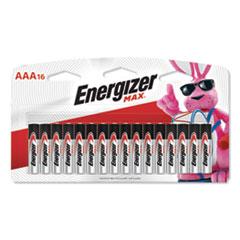 MAX Alkaline AAA Batteries, 1.5V, 16/Pack