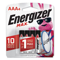 MAX Alkaline AAA Batteries, 1.5V, 4/Pack