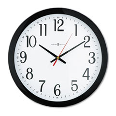 """Gallery Wall Clock, 16"""" Overall Diameter, Black Case, 1 AA (sold separately)"""
