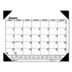 Recycled Workstation-Size One-Color Monthly Desk Pad Calendar, 18.5 x 13, 2022