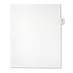 Legal Exhibit Index, White, Side Tabs, Exhibit 33, 25/Pack
