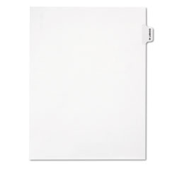 Legal Exhibit Index, White, Side Tabs, Exhibit 42, 25/Pack
