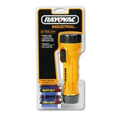 Industrial Tough Flashlight, 2 D, Black/Yellow