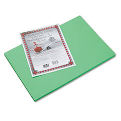 Riverside Construction Paper, 76lb, 12 x 18, Green, 50/Pack