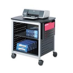 Scoot Printer Stand, 26.5w x 20.5d x 26.5h, Black/Silver