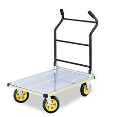 Stow-Away Platform Truck, 1000 lb Capacity, 24 x 39 x 40, Aluminum/Black