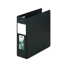 """Clean Touch Locking Round Ring Reference Binder, Antimicrobial, 4"""" Cap, Black"""