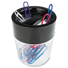 Magnetic Clip Dispenser, Two Compartments, Plastic, 2 1/2 x 2 1/2 x 3