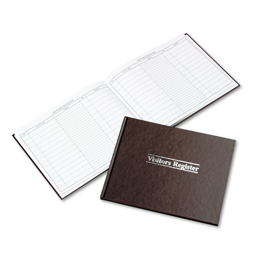 Image for VISITOR REGISTER BOOK, RED HARDCOVER, 112 PAGES, 1,500 ENTRIES, 8 1/2 X 10 1/2