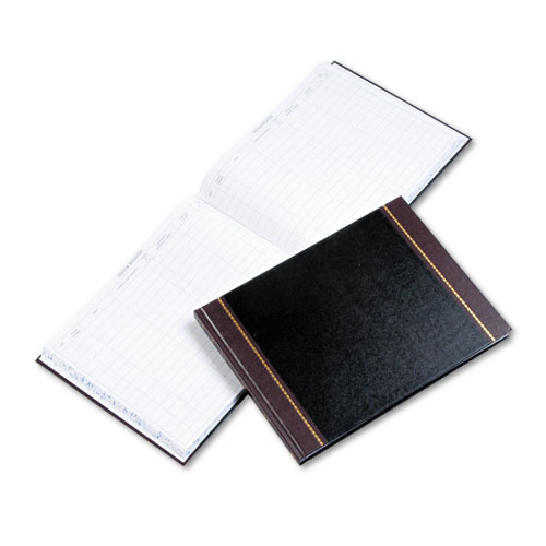 Image for DETAILED VISITOR REGISTER BOOK, BLACK COVER, 208 RULED PAGES, 9.5 X 12.25