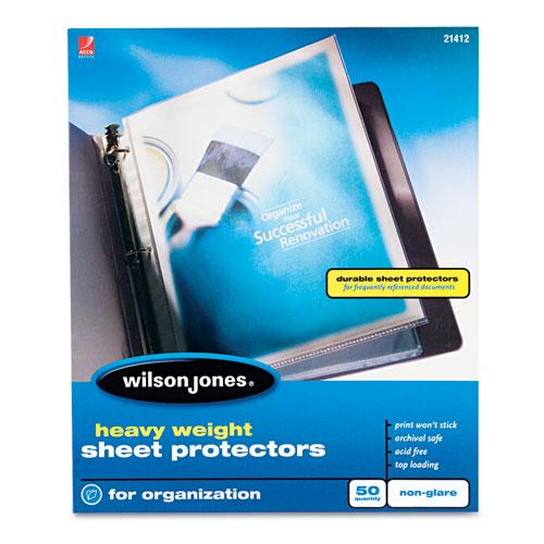Heavyweight Top-Loading Sheet Protectors, Nonglare Finish, Letter, 50/box