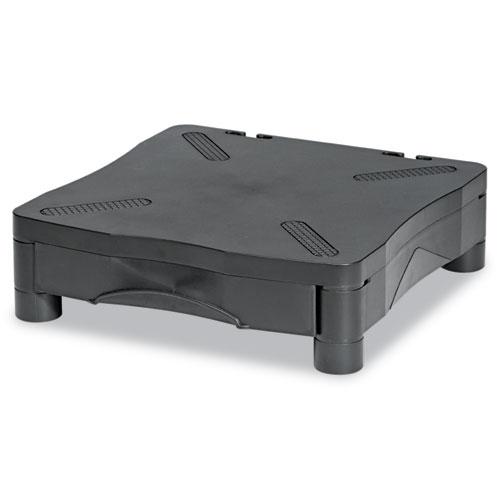Adjustable Monitor Stand W/single Storage Drawer, 13-1/4 X 13-1/2 X 2-3/4 To 4