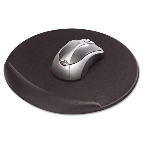 Mouse Pad, Memory Foam, Non-Skid Base, 8 X 8 X 3/4, Black