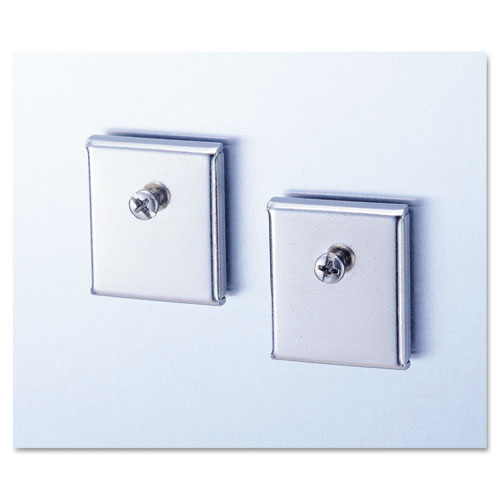 Image for Cubicle Accessory Mounting Magnets, Silver, Set Of 2