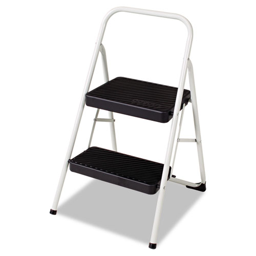 Image for 2-STEP FOLDING STEEL STEP STOOL, 200 LB CAPACITY, 17.38W X 18D X 28.13H, COOL GRAY