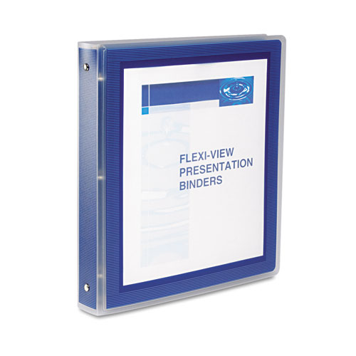 FLEXI-VIEW BINDER WITH ROUND RINGS, 3 RINGS, 1.5