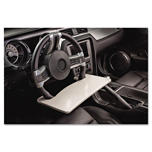 Image for Automobile Steering Wheel Attachable Work Surface, Gray